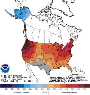 NOAA 6-10 d Temp Outlook