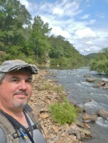The author on the Middle Fork-I've mapped the geology of this river all the way to Tilly.