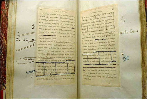 Dickens' hand-edited copy.