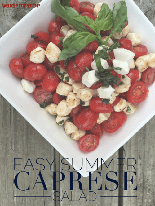 Easy Summer Caprese Salad with watermark
