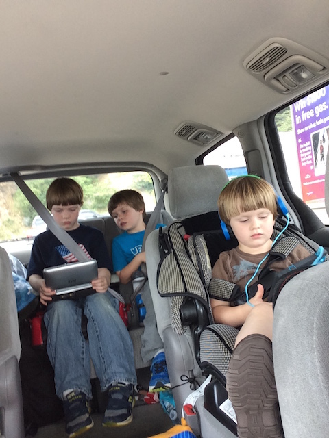 We're latecomers to technology trends. Boys made do with a borrowed DVD player, a Kindle, and plenty of books.