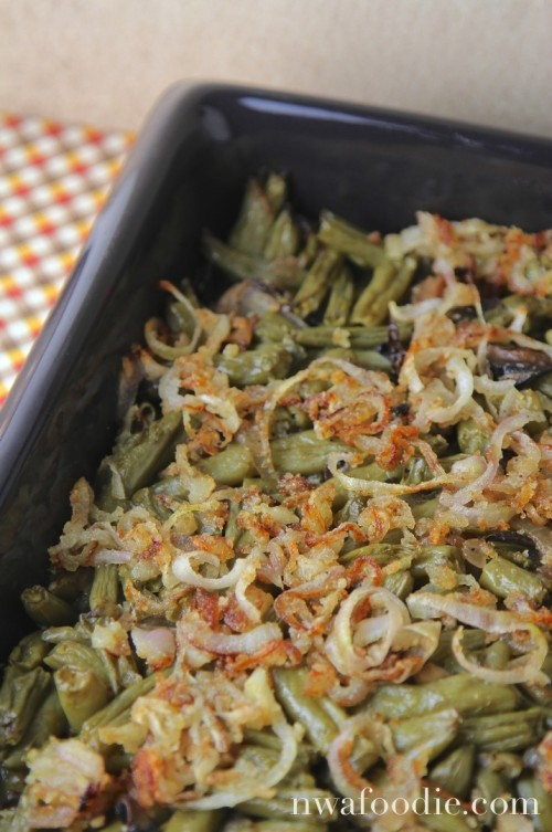 Healthy green bean casserole - main