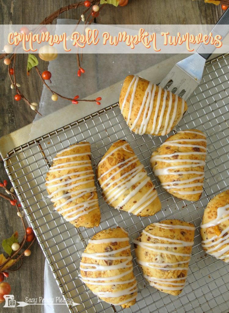 lacie ring of easy peasy pleasy cinnamon roll pumpkin turnovers