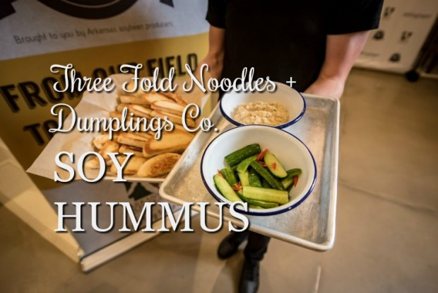 Three Fold Noodles + Dumpling Co's Soy Hummus via diningwithdebbie.net