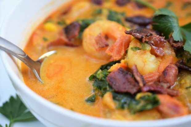 Spicy Shrimp and Corn Chowder via Justin Taylor
