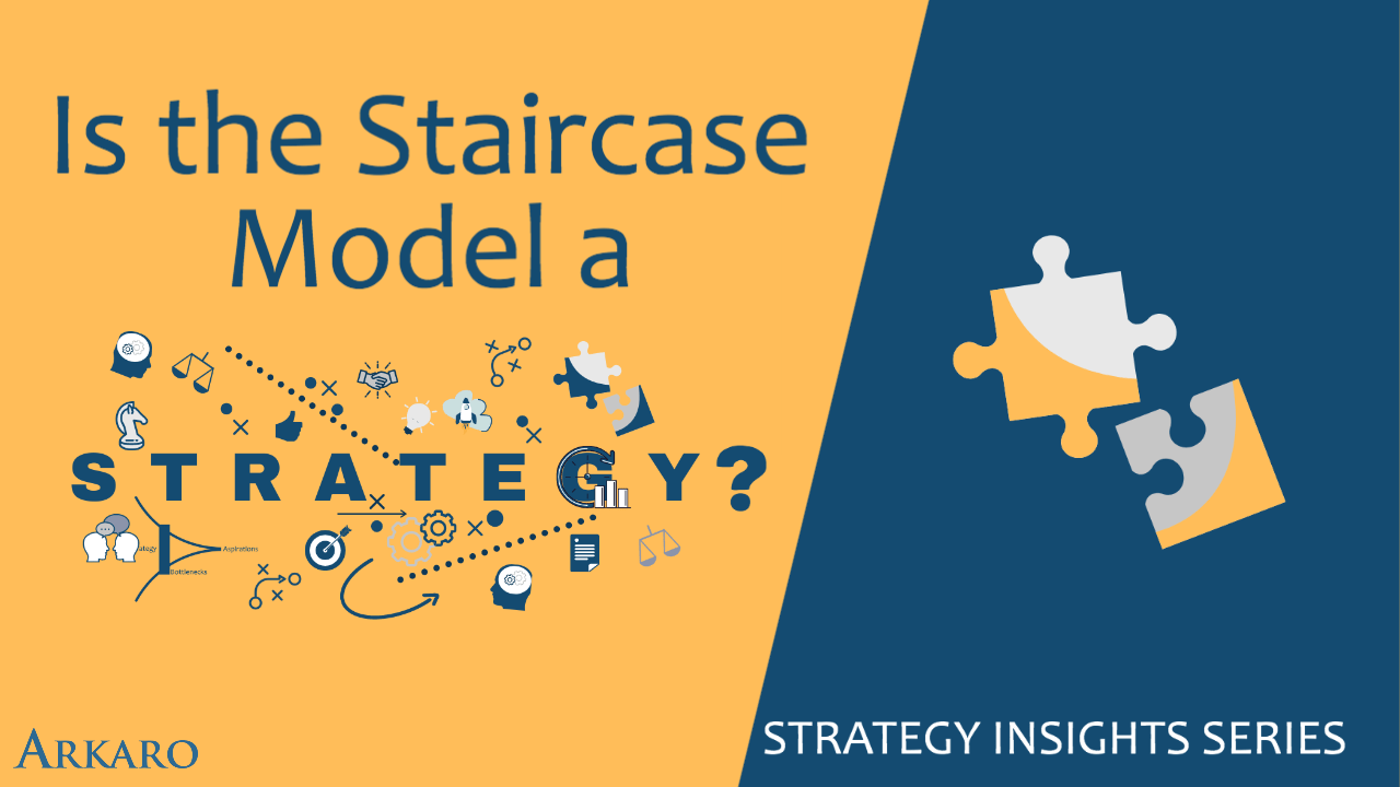 Is the Staircase Model a Strategy?