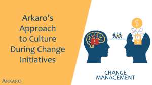Arkaro's Approach to Culture During Change Initiatives