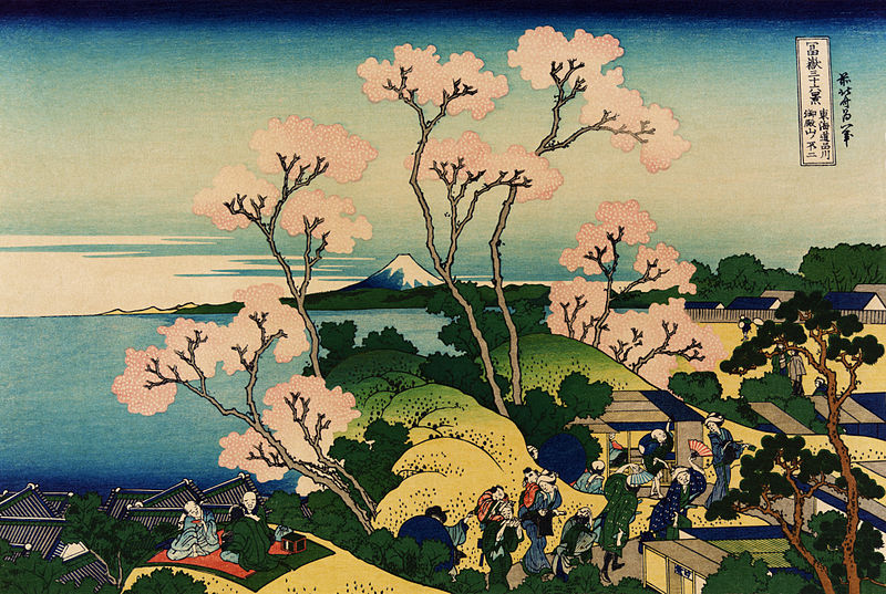 800px-Katsushika_Hokusai,_Goten-yama_hill,_Shinagawa_on_the_Tōkaidō,_ca._1832