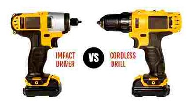 difference, drill, screwdriver