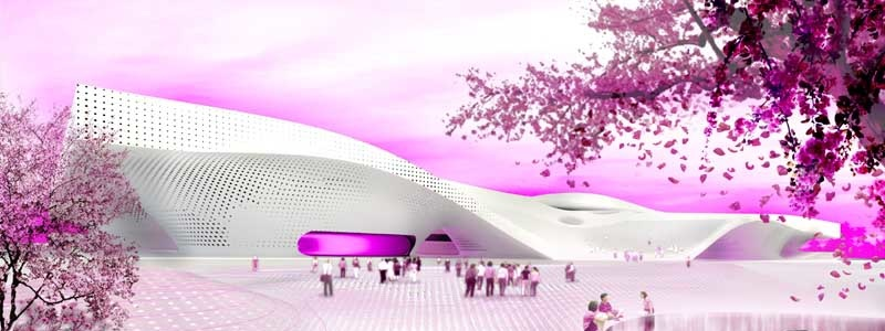 Competition rendering of the Wei-Wu-Ying Centre (source:e-architect)