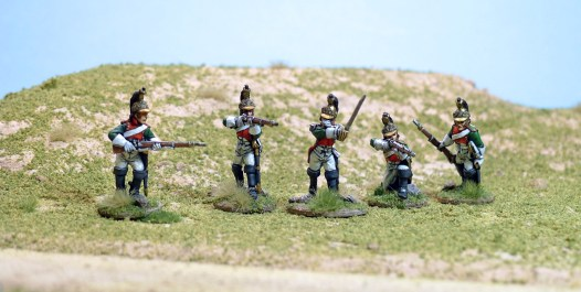 Officer, and four Dragoons, painted up as the 1st.