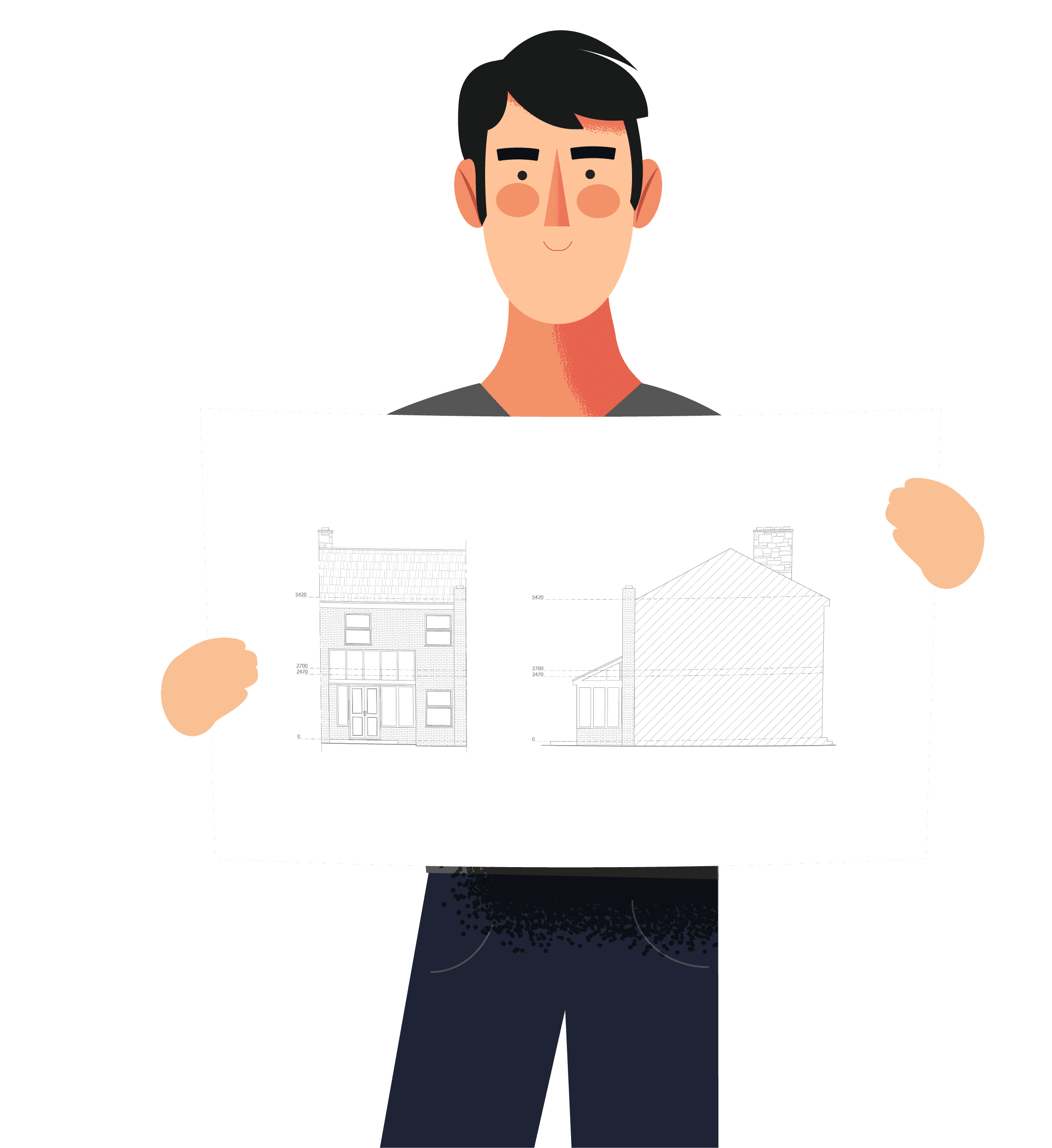 Building extension drawing plans online