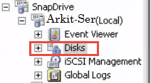 snapdrive disk