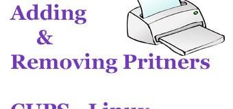 priner configuration in linux lpadmin command managing printers