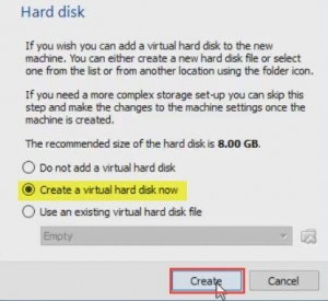 Create Virtual Hard disk