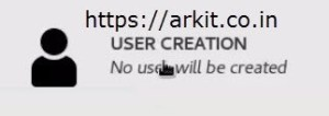 Create New User option