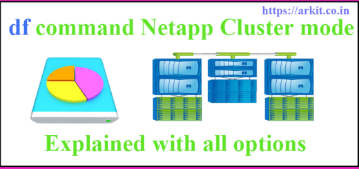 df command netapp cluster mode