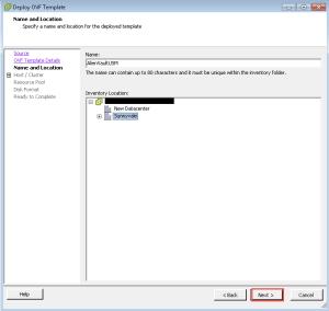 Provide VM Name deploy OVF OVA template