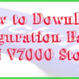 How to Download Configuration Backup in IBM V7000 Storage