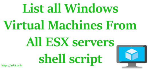 List All Windows Virtual Machines from ESX Server Using shell script