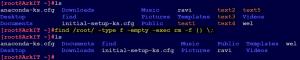 delete empty files using find command