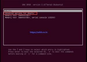 Advanced options for ubuntu