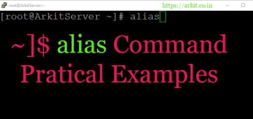 alias command Best Short Form Linux Commands