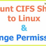 How To Change CIFS Share Mount Permissions Linux