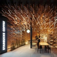 A Starbucks coffee by Kengo Kuma