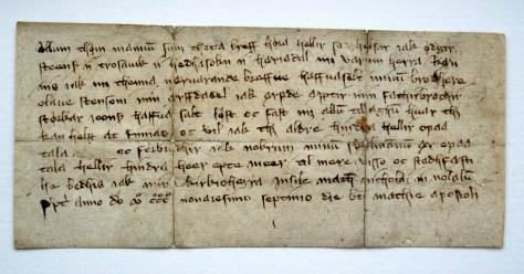 Brev från Hede socken i Härjedalen, år 1397