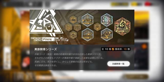 【アークナイツ】今日で危機契約1の勲章がコンプできるな!!!!!
