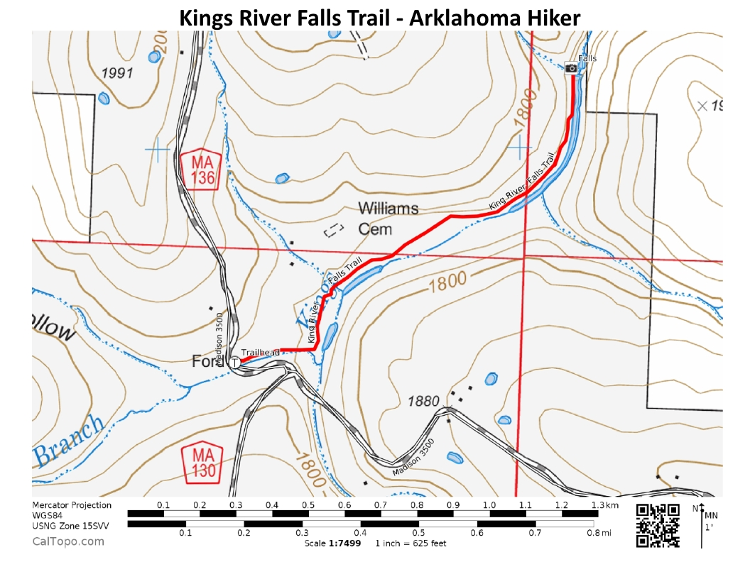 Kings River Falls Trail