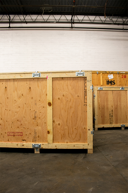 Crated Trade Show Material for Shipping