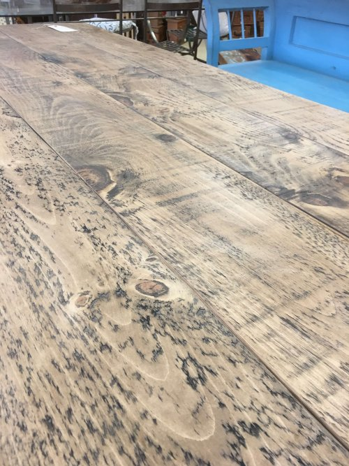 waxed reclaimed dining tables arkvintage