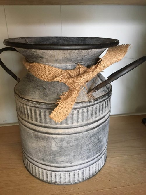 Vintage Metal Churn/planter/vase