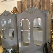 vintage, armoire, painted furniture, french, cupboard, cabinet