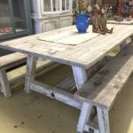 Vintage, A frame dining table, 7 foot.