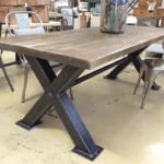 vintage, box steel industrialtable