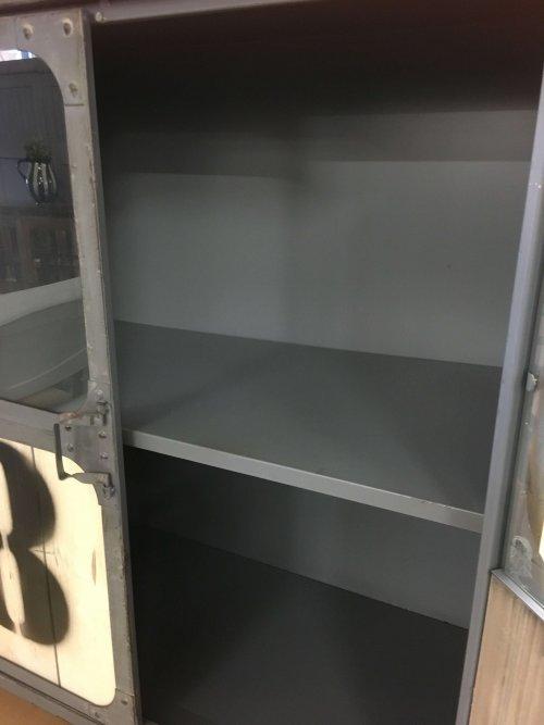 metal cabinet inside