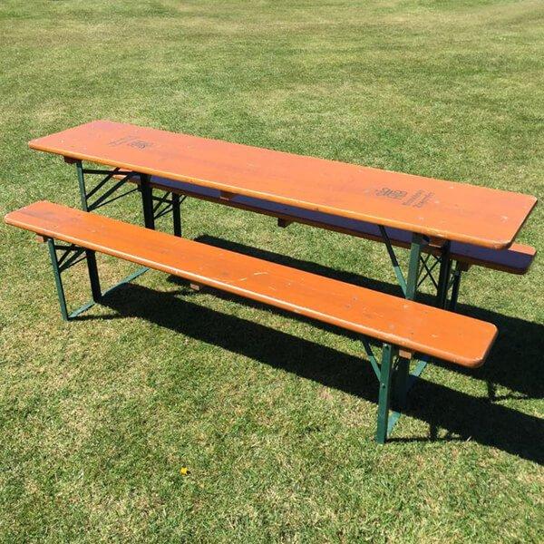 Garden Table Bench Set From Arkvintage.com. Original Vintage Table And 2  Bench Sets