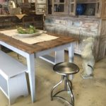 French table farmhouse table rustic painted