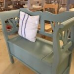 painted bench seating vintage pine interiors