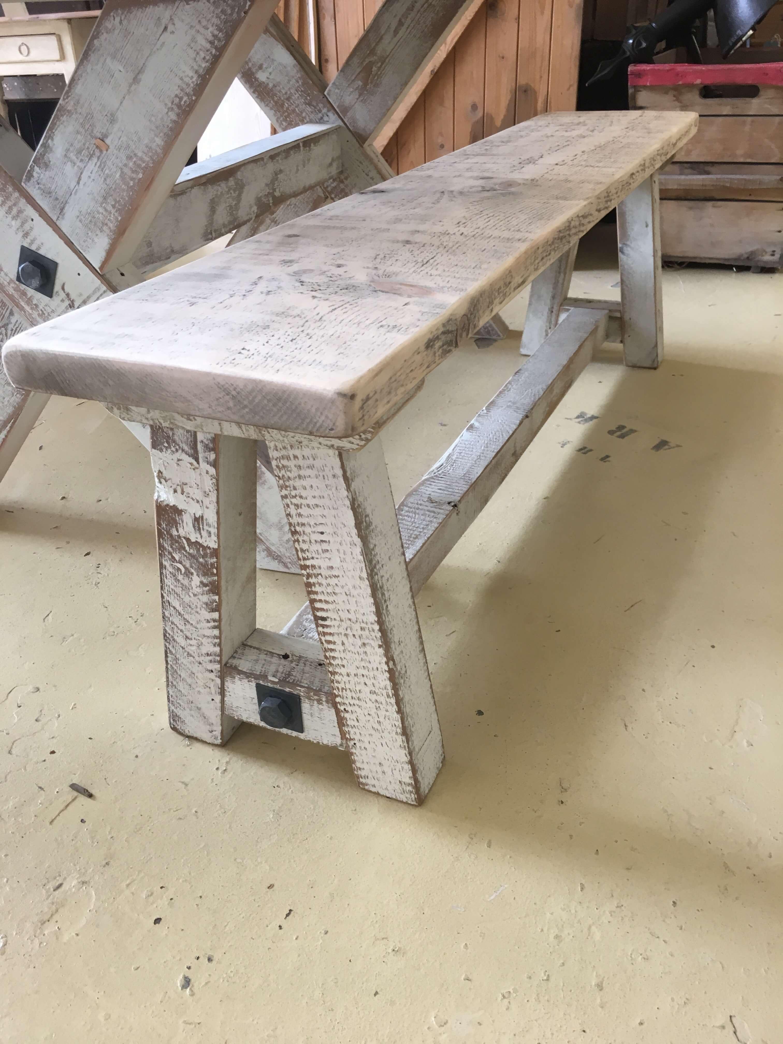 Strange A Frame Wooden Benches From 260 Ark Vintage Creativecarmelina Interior Chair Design Creativecarmelinacom