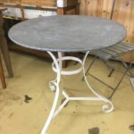 vintage round metal table