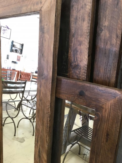 vintage mirror mirrors wooden fames rustic industrial