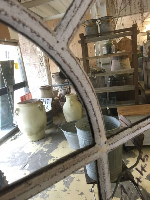 Mirrored Original Cast Iron Window frame