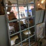 Mirrored Original Cast Iron Window frame