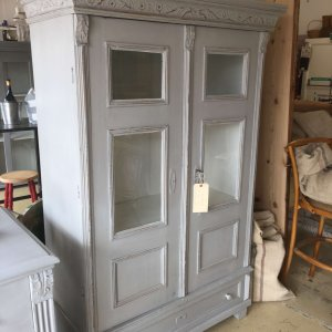 French, cabinet, painted, vintage