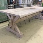 Solid Oak table X end