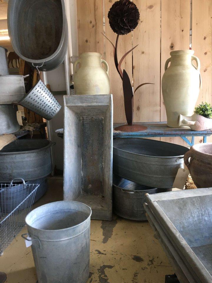 Galvanised, metal, bath, vintage